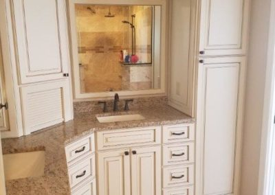 Englewood, granite countertops_ wood cabinets_travertine floors (2)