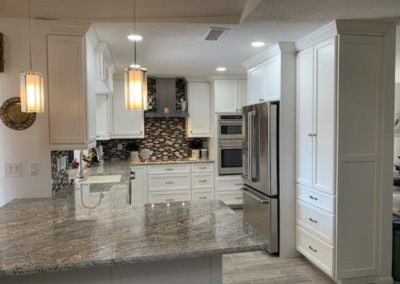 Custom cabinets, backsplash, granite counter tops_punta gorda_southwest restoration 1