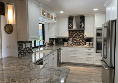 Custom cabinets, backsplash, granite counter tops_punta gorda_southwest restoration 2